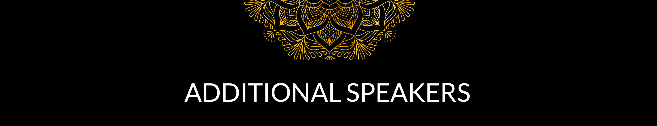 Additional Speakers Header Image